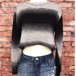 Nasty Gal Ombre Cropped Sweater SZ Small